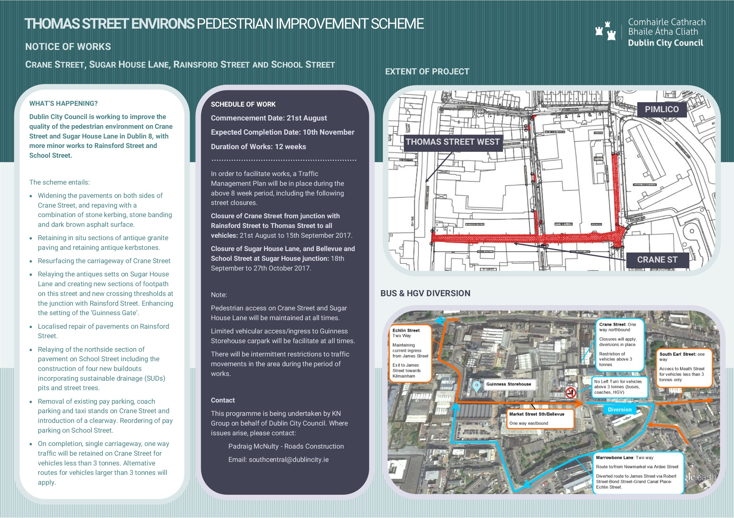 Notice of Proposed Works to Thomas Street Environs