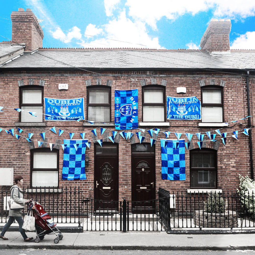 The Flags are out early in The Liberties for the All-Ireland Football Final