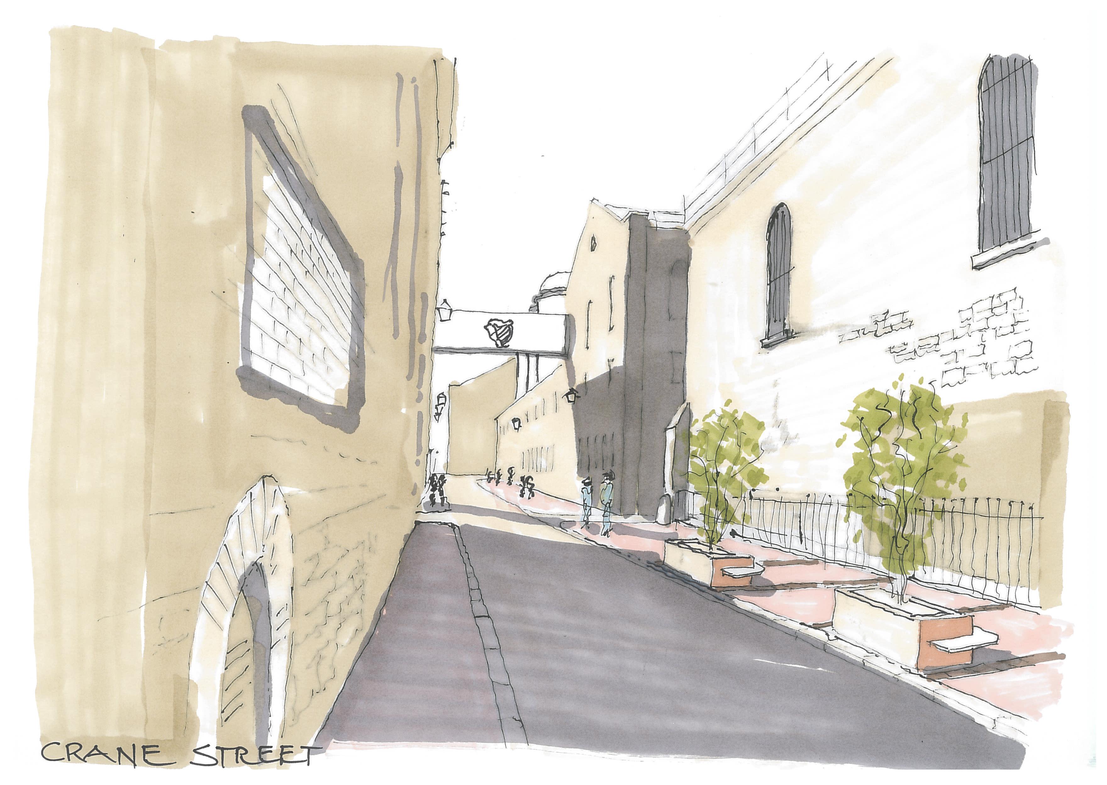 Crane Street Sketch View