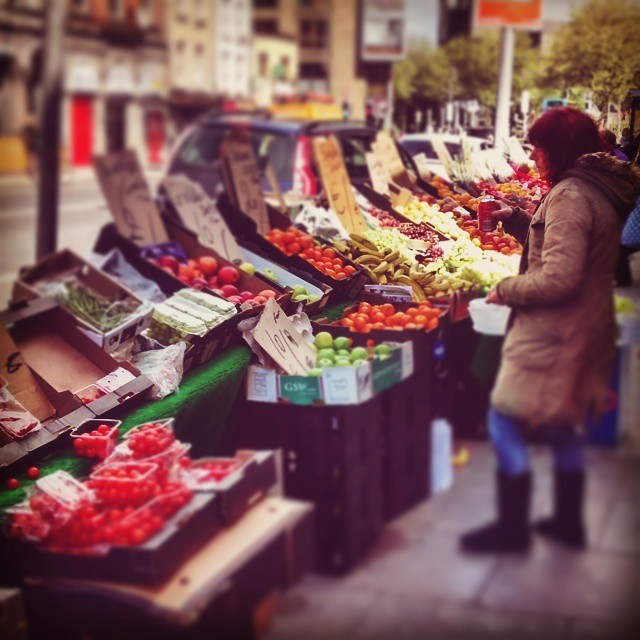 Traditional weekend fruit Market on Thomas Street Dublin 8