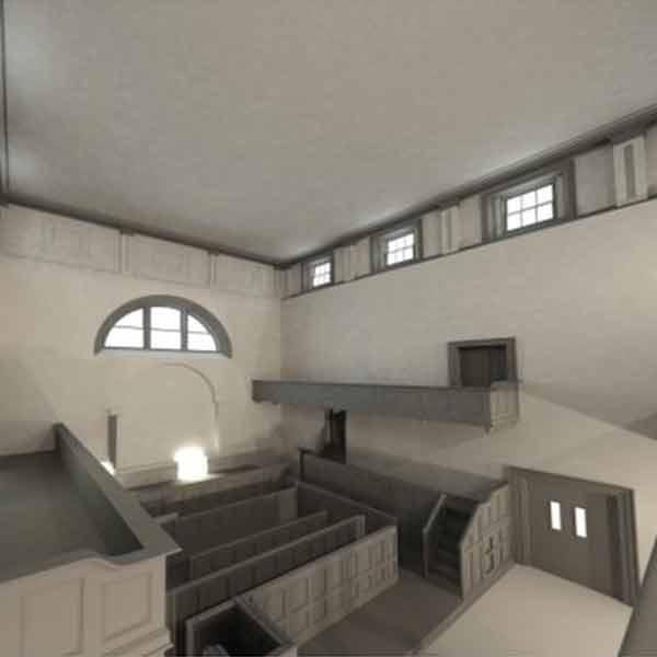 Kilmainham Courthouse 3d model interior