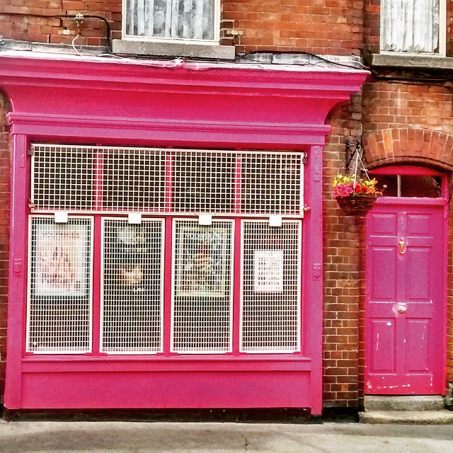 Pink shopfront in The Liberties