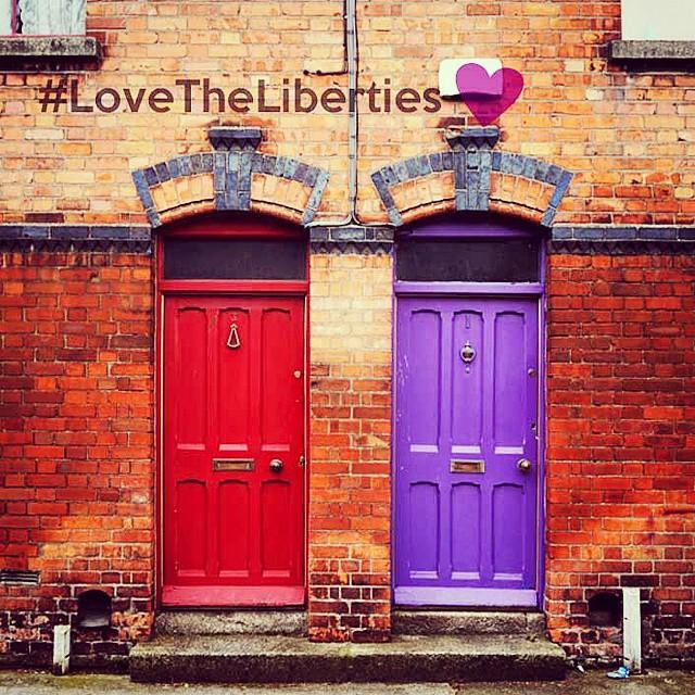 Colourful doors in The Liberties Dublin